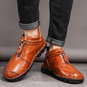 Men's Boots, Chelsea Boots, Ankle Dress Boot for Men, Genuine Leather Oxfords Boots for Men with Leather Slip-on Hand Stitching