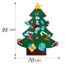 Load image into Gallery viewer, Puzzle Toys Kids Gifts Stick Door Wall Hanging Xmas Decor Felt Christmas Tree Ornaments Send 26Pcs Small Pendant