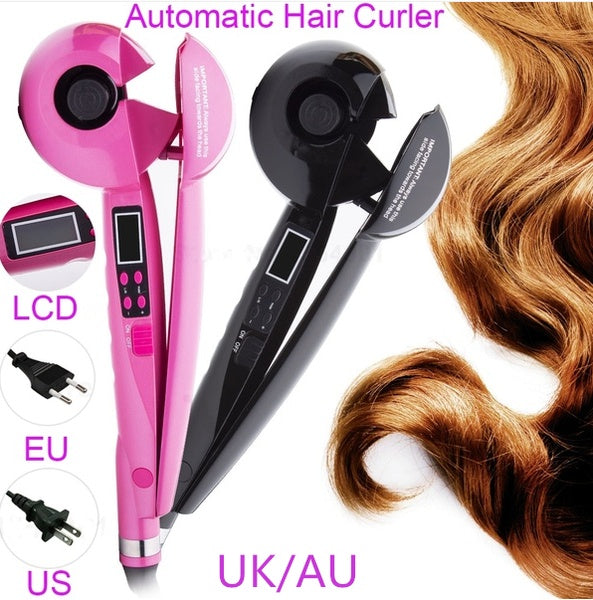 2019 New LCD Screen Automatic Hair Curler Heating Hair Care Styling Tools Ceramic Wave Hair Curl Magic Curling Iron Women Hair Styler hair curler hair products for women prancha de cabelo