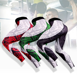 Men's Sport Running Pants Tights Compression Pants Fitness Leggings 3D Print Tights Workout Quick Dry Breathable Long Pants ( 3 Colors)