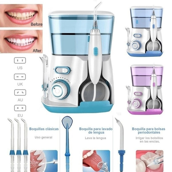 New upgrade 800ml dental oral irrigator water floss oral irrigator home oral irrigator 5 kinds of rinsing nozzle