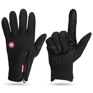 Winter Warm Soft Gloves Touch Screen Gloves Winter Sports Texting Fleece Gloves Running Hiking Skiing Mountaineering Cycling Gloves
