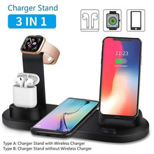 Load image into Gallery viewer, Qi Wireless Charger Phone Charging Stand with Usb Fast Charging for Iphone X XS XR 8P 8 Samsung S10 S9 S8 S7 Charging Dock Station for Airpods Apple Watch 4/3/2/1