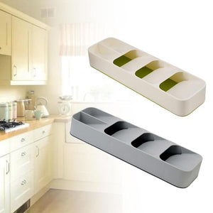 Multi-Layer Adjustable Drawer Tableware Fork Cutlery Flatware Storage Box Organizer Divider Tray