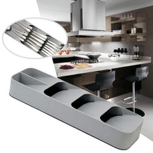 Load image into Gallery viewer, Multi-Layer Adjustable Drawer Tableware Fork Cutlery Flatware Storage Box Organizer Divider Tray