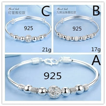 Load image into Gallery viewer, New 2019 Luxurious Design Women's 925 Sterling Silver Transfer Bead Bracelet Fashion Jewelry (Size: A, B, C)