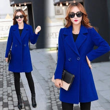 Load image into Gallery viewer, 2020 New! Autumn And Winter New Ladies Large Size 5XL Cashmere Coat Long Suit Woolen Coat Wool Solid Color Coat Fashion Warm Long Blazer