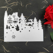 Load image into Gallery viewer, Christmas House Tree Snowman Santa Claus Cutting Die Embossing Stencil Mold for DIY Art Handcraft Card Decor