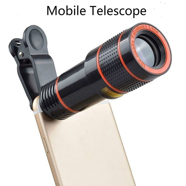 12X Long Focus Mobile Phone Lens Manufacturer Focus Zoom Telescope Lens External High Definition Photography 12-fold Lens Mobile Accessories