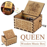 Music Box Wooden Engraved Queen love Mom Dad Kids Gift Christmas