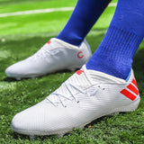 Unisex Outdoor Cleats Soccer Shoes Boys Football Boots Waterproof Soccer Shoes Outdoor Soccer Training Shoes Large Size 35-45
