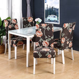 Printed Elastic Chair Cover Removable and Washable Set of Spandex Elastic Chair Cover Household Furniture Protective Cover