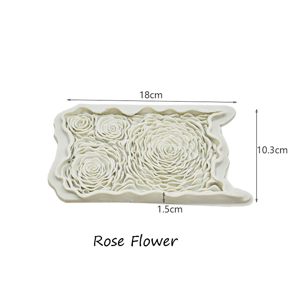 Wedding Supplies Sugarcraft Baking Supplies Fondant Cake Mould Rose Flower Silicone Mold Cake Decorating Pastry Tool