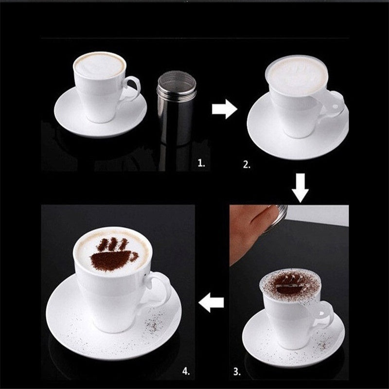 16Pcs/Set Coffee Printing Template Kitchen Tools Kitchenware Coffee Spray Template Kitchen Gadgets
