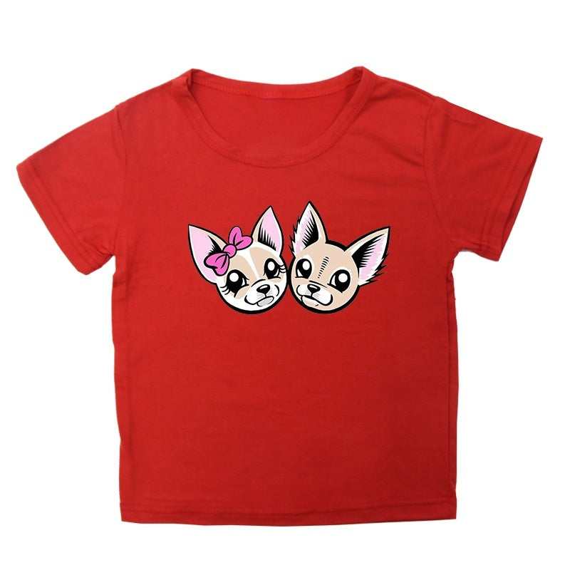 Children T Shirt Cute Cartoon Me contro Te T-shirt Kids Short Sleeve Round Neck Tops