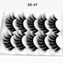 Load image into Gallery viewer, Mink eyelashes 5 pairs of handmade 3d mink lashes natural eyelashes extended beauty makeup false eyelashes