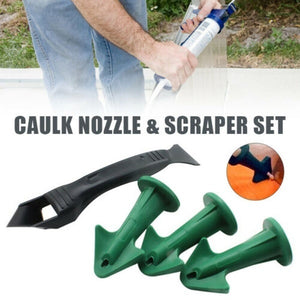Caulk Nozzle and Scraper Set Reusable Caulk Remover Sealing Caulking Tools Kit