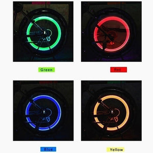 LED Flsh Tyre Wheel Valve Cap Light for Car Motorbicycle Bike Bicycle Wheel Light Tire