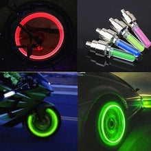 Load image into Gallery viewer, LED Flsh Tyre Wheel Valve Cap Light for Car Motorbicycle Bike Bicycle Wheel Light Tire