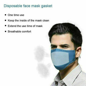 100Pcs Face Mask Filter Pad Activated Carbon Breathing Mask Filters Anti Dust Mask Respirator Filter Mask Gasket Filter