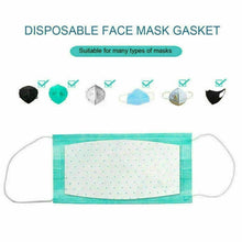 Load image into Gallery viewer, 100Pcs Face Mask Filter Pad Activated Carbon Breathing Mask Filters Anti Dust Mask Respirator Filter Mask Gasket Filter