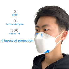 Load image into Gallery viewer, 5 Pcs KF94 / N95 / KN95 Face Mask 4 Layer Non-woven Breathable Anti Dust Mouth PM2.5 Men Women Mask