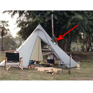Tent Stove Jack Fire-Resistant Pipe Vent Accessory for 4 Seasons Canvas Camping Bell Tent