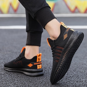 Men's Breathable Knit Casual Shoes Sports Running Shoes Anti-slip Sneakers Tennis Walking Trainers for Men
