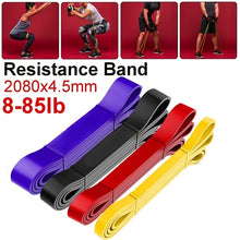 Load image into Gallery viewer, 8-120lb 2080x4.5mm Resistance Band Exercise Elastic Band Workout Ruber Loop Strength Pilates Fitness Equipment Training Expander