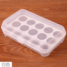 Load image into Gallery viewer, Portable 15 Grids Plastic Eggs Storage Box for Kitchen Supplies Home Accessories 24x15x7cm