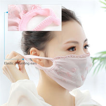 Load image into Gallery viewer, Breathable Mouth Mask Women Girl Lace Cotton Mask Bacteria Proof Anti-pollution Mask Cycling Windproof Anti-Dust