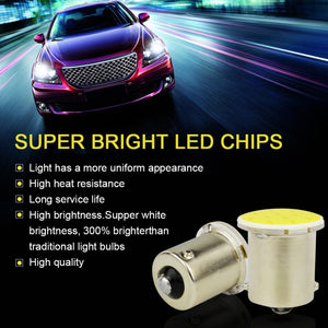 10PCS P21W 1157 BAY15D 1156 Ba15S Car LED Light Signal Bulb COB Super Bright Auto Turn Tail Reverse Parking Brake Lamp 12V 12SMD