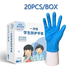 Load image into Gallery viewer, 20Pcs/box Household Disposable Latex Gloves Small Anti Virus Pollution Nitrile Gloves for Children