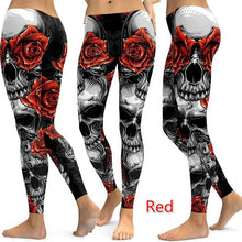 Load image into Gallery viewer, S-5XL Women's Fashion Skull Print Skinny Leggings Casual High Elastic Fitness Leggings Gym Sports Yoga Pants Long Trousers Plus Size