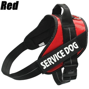 New Fashion Comfortable Service Dog Strap with Pet Training Vest Reflective Patch for 12 Colors of Large Medium and Small Dogs large breed pet dog harness and leash(Size:XXS-XXL)