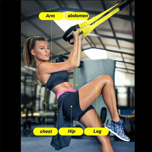 High Quality Suspension Fitness Straps Exercise Resistance Bands Trainer Kit