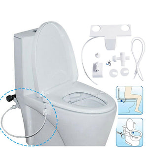 Bidet Attachment Self Clean Nozzles Adjustable Water Spray NonElectric Mechanical Bidet Toilet Seat Attachment