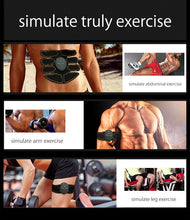 Load image into Gallery viewer, Weightloss Burn Fat, EMS Abdominal Muscle Trainer Keep Fitness Weight Loss Build Muscle Fast Sports exercise muscle training lazy exercise smart abs fitness stickers