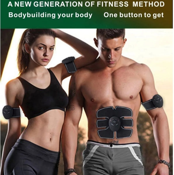 Weightloss Burn Fat, EMS Abdominal Muscle Trainer Keep Fitness Weight Loss Build Muscle Fast Sports exercise muscle training lazy exercise smart abs fitness stickers