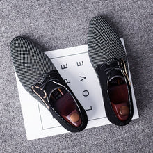 Load image into Gallery viewer, Plus Size Business PU Leather Shoes Men Breathable Rubber Formal Dress Shoes Male Office Wedding Flats Footwear Mocassin Homme