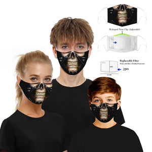 New 3D Printed Mouth Mask for Adult and Big Kids Adjustable Reusable Protective PM2.5 Filter Anti Dust Face Mask Windproof Mouth Muffle Bacteria Proof Flu Mask