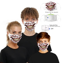 Load image into Gallery viewer, New 3D Printed Mouth Mask for Adult and Big Kids Adjustable Reusable Protective PM2.5 Filter Anti Dust Face Mask Windproof Mouth Muffle Bacteria Proof Flu Mask