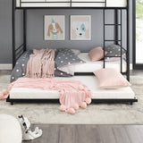 Taylor & Olive Abner Black Metal Roll-Out Twin Trundle Bed Frame