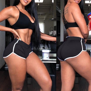 2020 Women Fashion solid color Breathable Yoga Shorts Push Up Gym Short Workout Elastic Pants loose Scrunch Shorts workouts