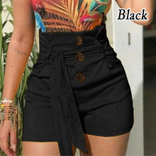 Load image into Gallery viewer, Summer Women s  Fashion  Lace Up Tie Pants  Plus Size Casual High Waist Short Pants