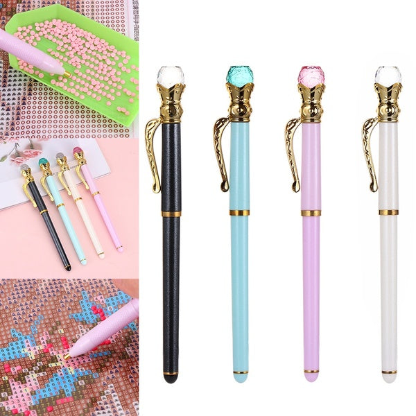 Crown Crystal 5D Diamond Painting Point Drill Pen DIY Crafts Cross Stitch Sewing Accessories