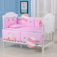 Load image into Gallery viewer, 90x50cm Baby Bedding Set 5pcs Crib Bedding set For Baby boy Cotton Soft Baby girl  Bumper (3 bumper+Mattres+pillow )