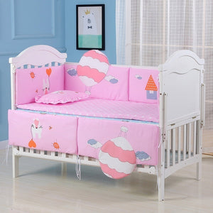 90x50cm Baby Bedding Set 5pcs Crib Bedding set For Baby boy Cotton Soft Baby girl  Bumper (3 bumper+Mattres+pillow )