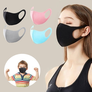 5pcs Adult Kids Child 3D Mask Antibacterial Dustproof Mask Anti-allergic PM2.5 Mouth Mask Breathing Organic Sponge Face Mask