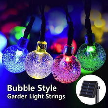 Load image into Gallery viewer, LED Solar String Light Super Bright Outdoor Solar Bubble Lights 20/30/50/100LED Fairy String Light Landscape Lamp Christmas Decor Lights